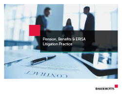 Pension Benefits & ERISA Litigation Brochure